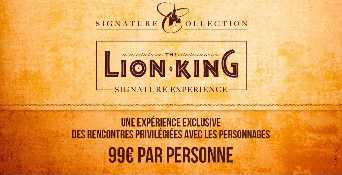 promos disneyland paris séjour signature roi lion 2019