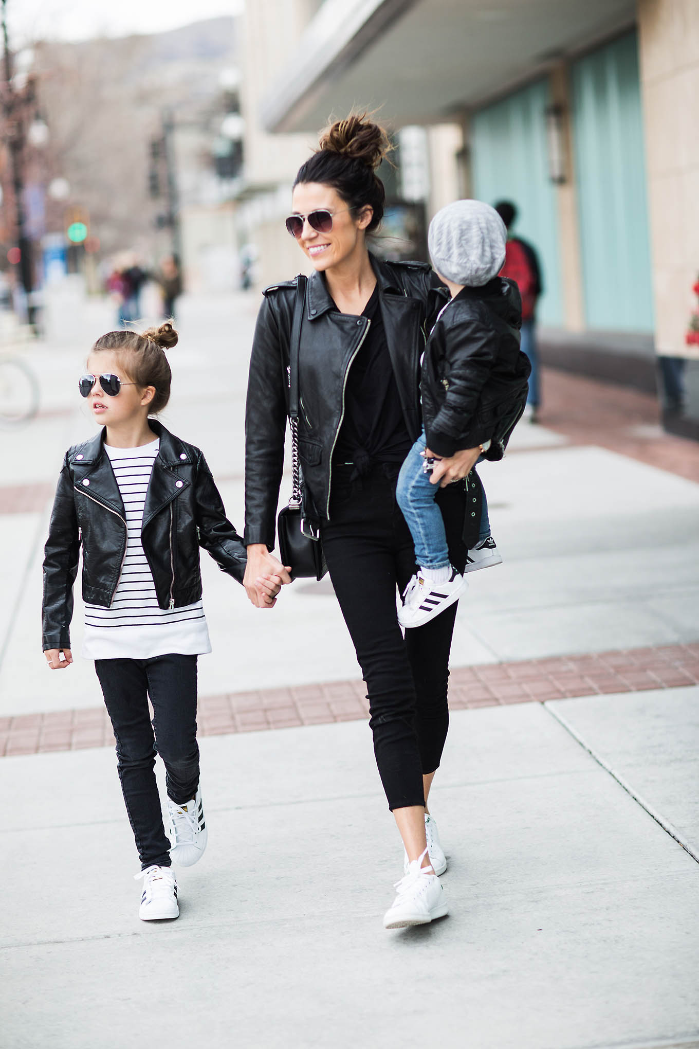 A Family Leather Look  Hello Fashion