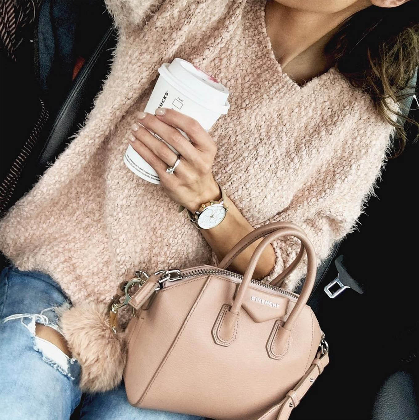 blush sweater ily couture