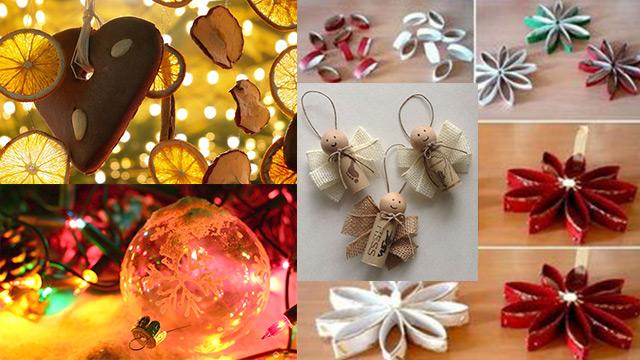 10 Decorazioni Natalizie Per Lalbero Di Natale Fai Da Te