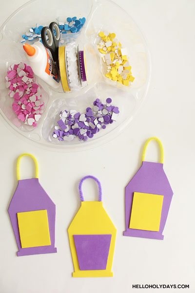 Ramadan Foam Lanterns Craft with Free Template by Hello Holy Days!
