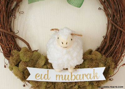 Eid al Adha Sheep Wreath by Hello Holy Days!