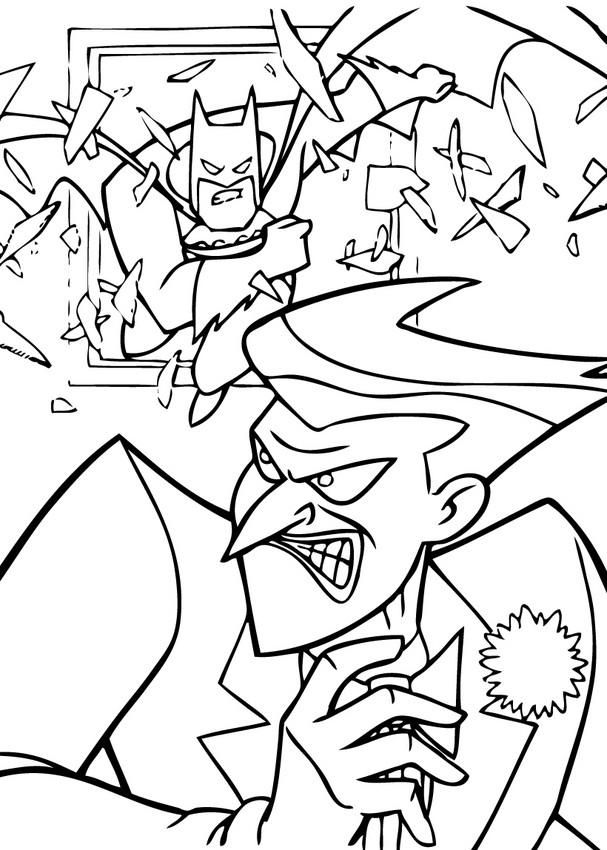 batman and joker coloring pages  hellokids