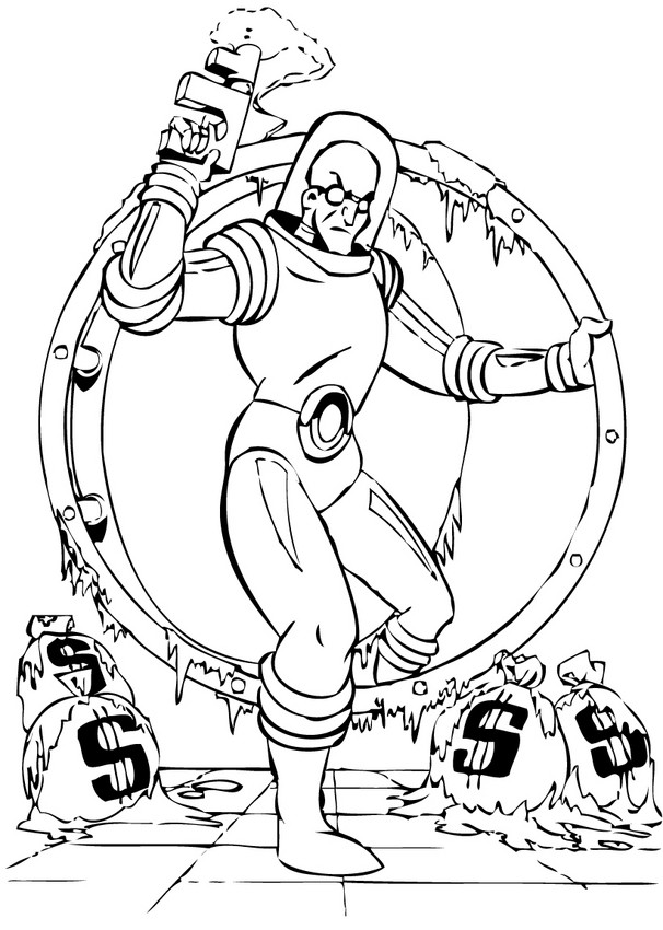 Lego Mr Freeze Coloring Pages