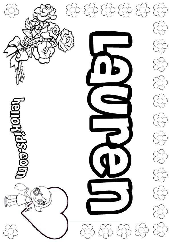 Free Lauren Name Coloring Pages