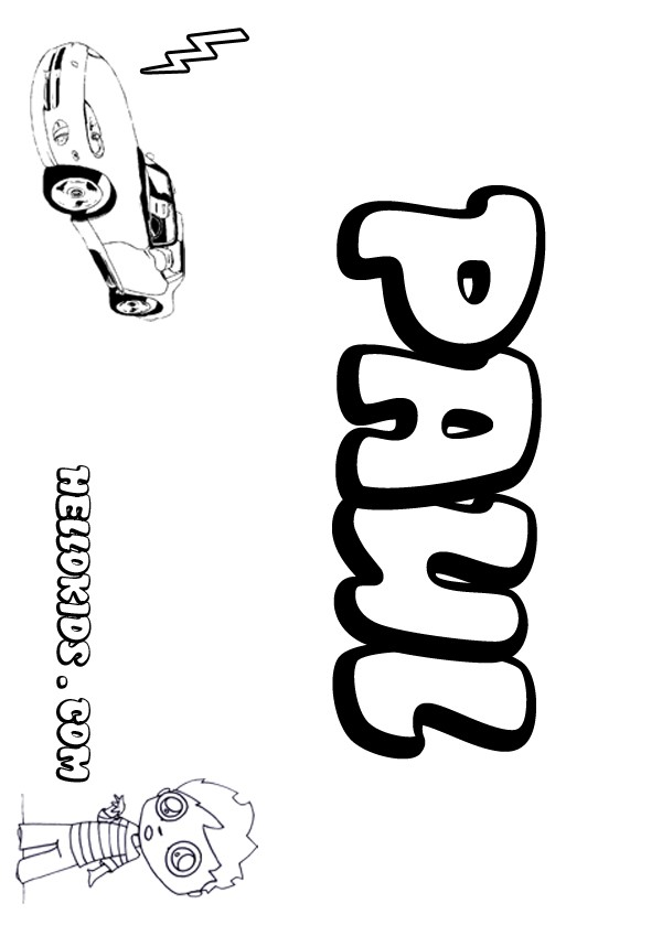 Paul coloring pages