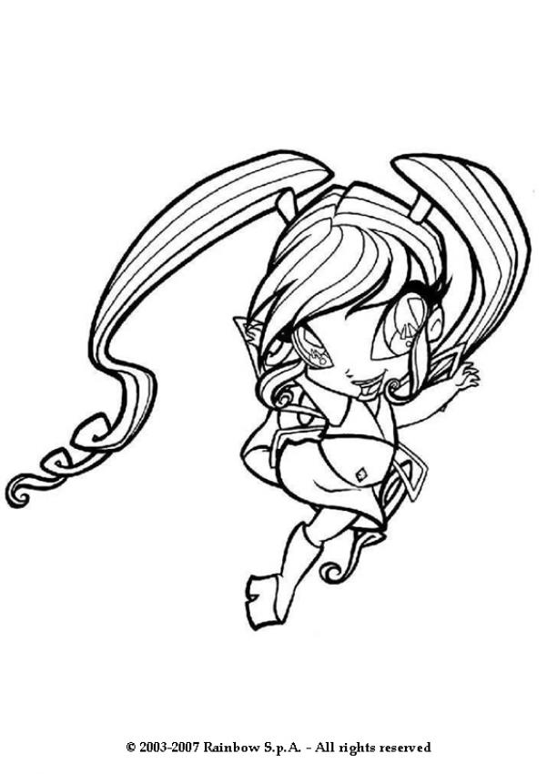 The Little Fairy Coloring Pages