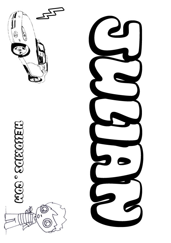 kids name coloring pages, Julian boy name to color
