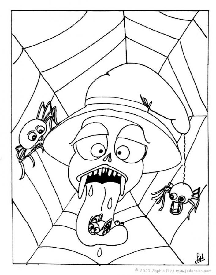 Halloween Spider Coloring Pages To Print 8x11 Coloring Pages