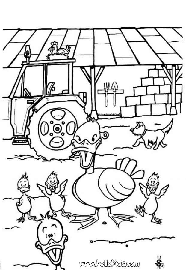 duckling colouring pictures