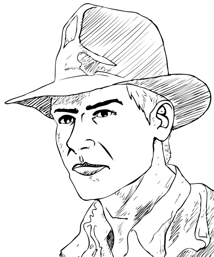 Indiana Jones Lego Coloring Page