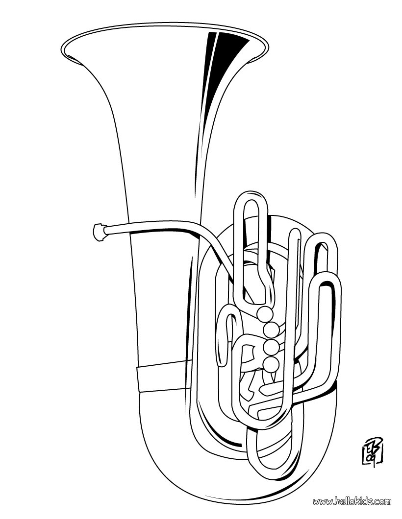 musical instrument colouring sheets