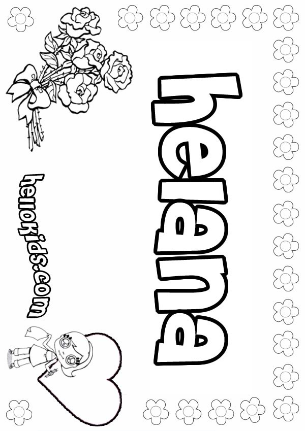 Ucik Hair: coloring pages for girls names