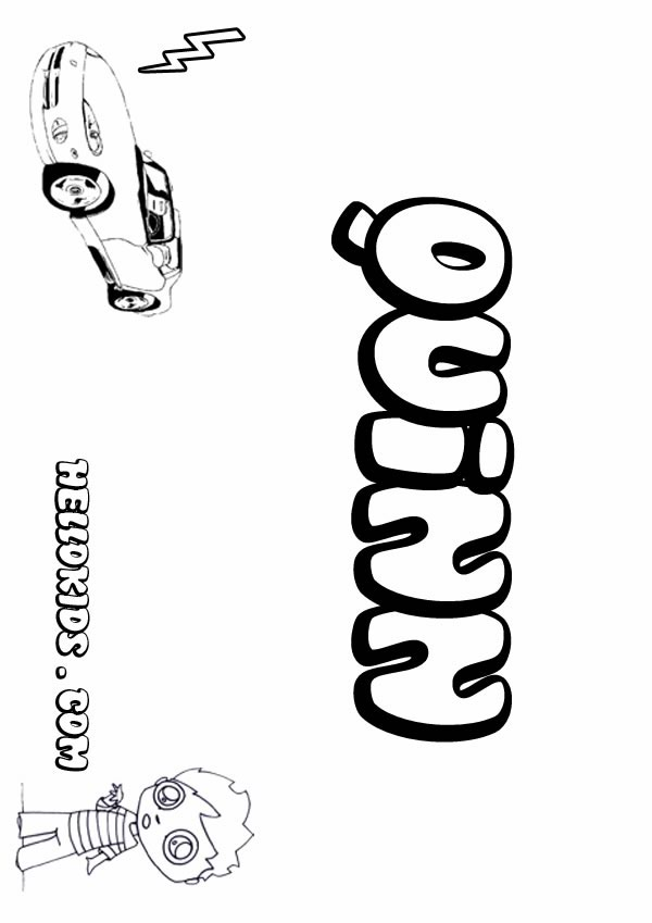 kids name coloring pages, Quinn boy name to color