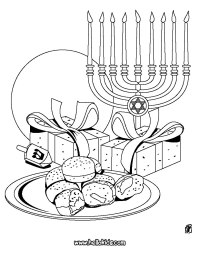 HANUKKAH coloring pages - Chanuka symbols