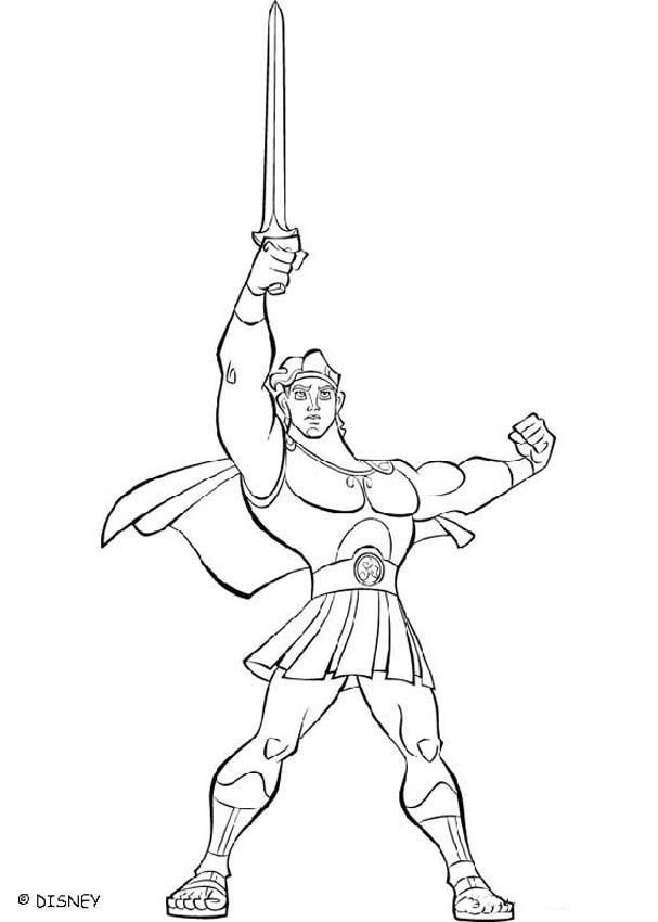 Hercules Coloring Lesson