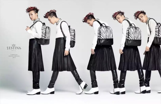 G-Dragon sporting a man-skirt for an endorsement