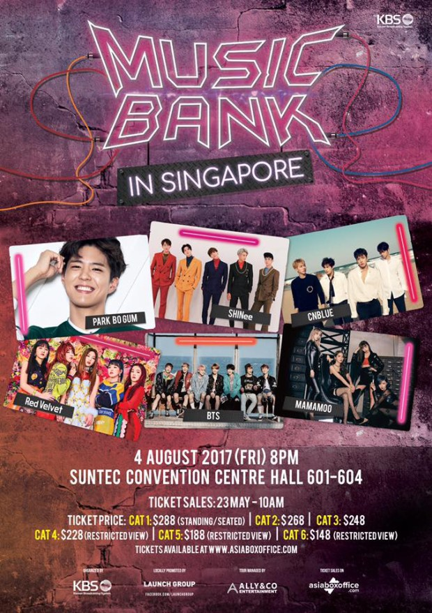 Kbs Music Bank World Tour in Singapore Poster