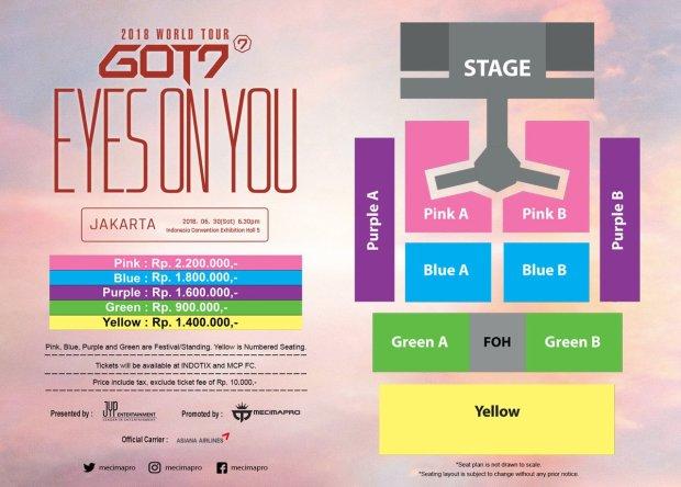 got7 to meet indonesian fans for eyes on you concert tour in jakarta. Black Bedroom Furniture Sets. Home Design Ideas