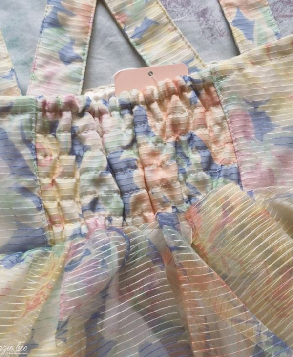 Kawaii Gyaru Shop Review: Liz Lisa Floral Organza Salopette & Cute Socks!