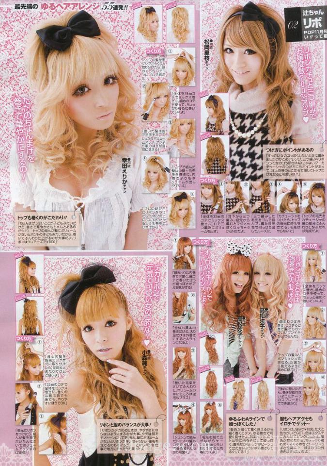 Curly hair tutorials for gyaru