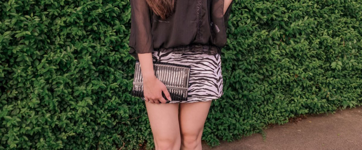 One Item Six Ways: Zebra Print Skirt