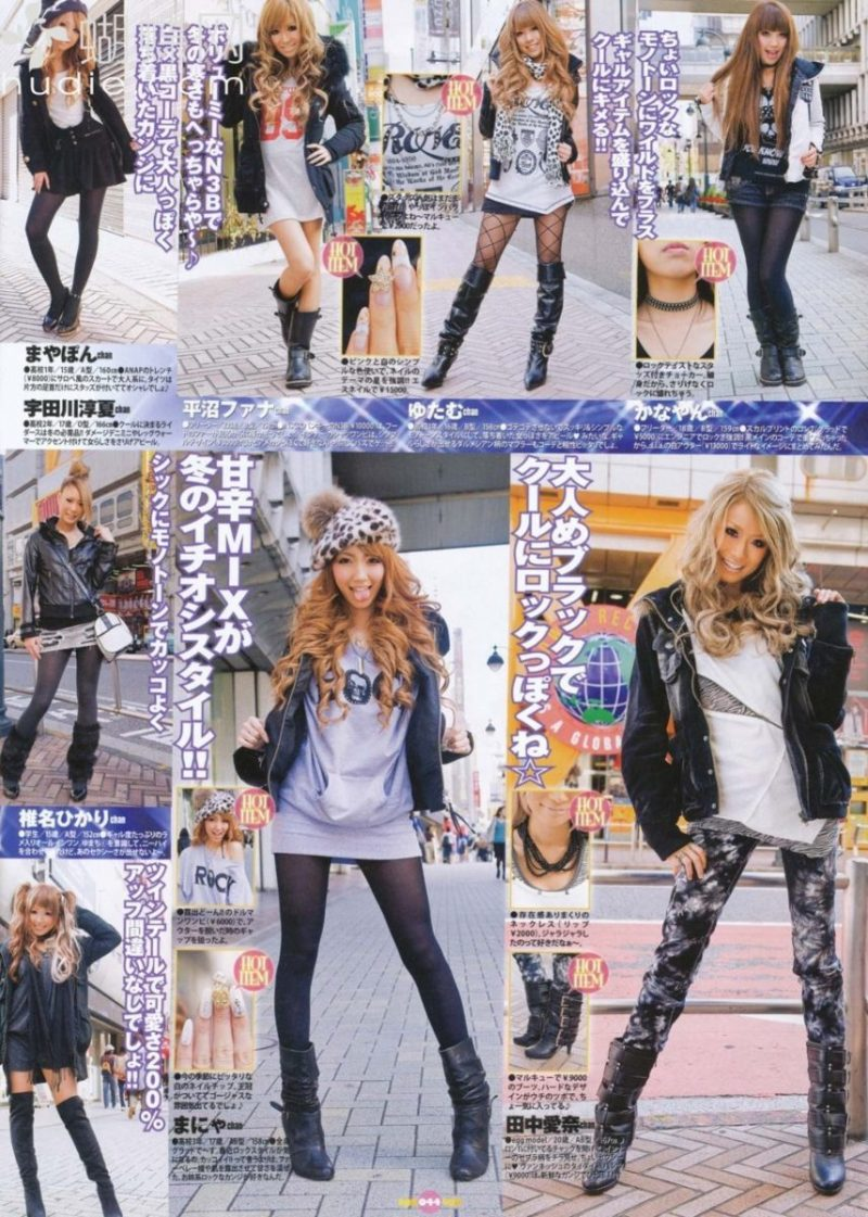 Winter gyaru outfit ideas via hellolizziebee
