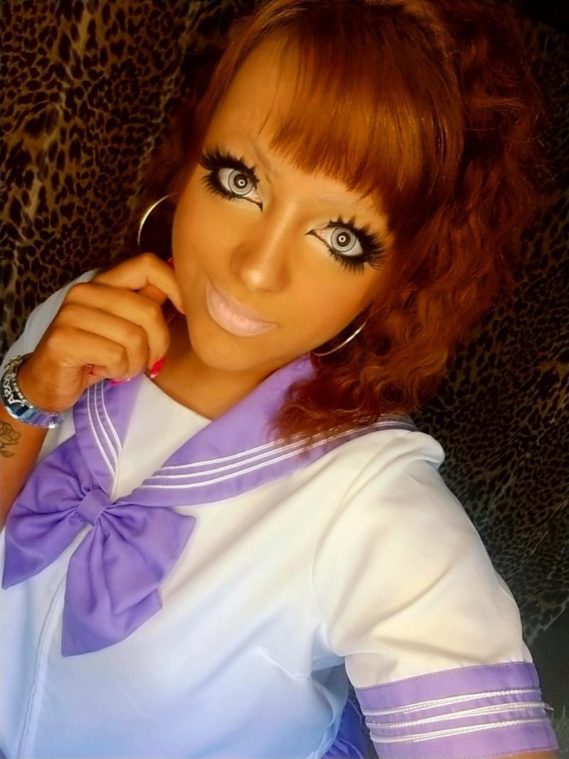 Banba gyaru makeup by Nefariously Cute (aka Kelsey)