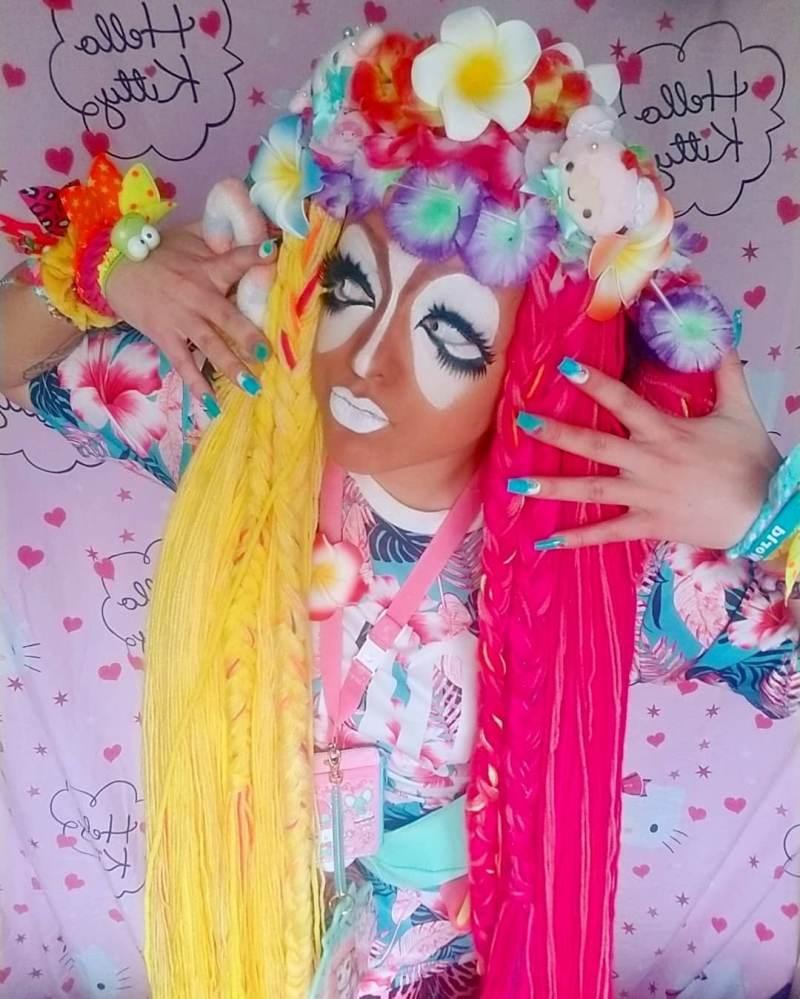 Nefariously Cute wearing Yamanba Gyaru style