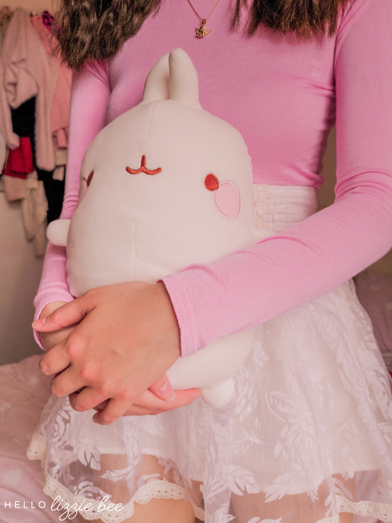 Molang plush toy via hellolizziebee