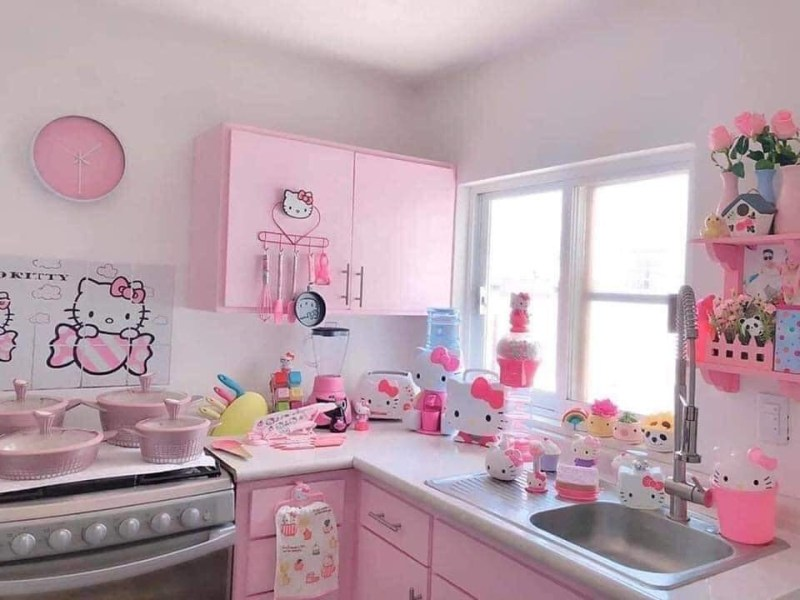 Kawaii Pink Hello Kitty Kitchen