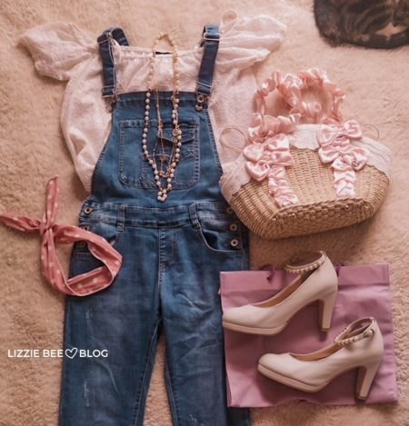 Cute himekaji outfit with overalls
