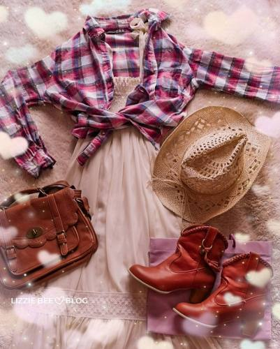 How to style a white maxi dress with check shirt