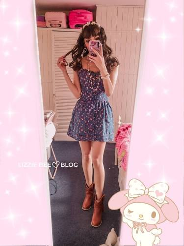 Casual himekaji outfit with a Liz Lisa dress from their 2010 collection
