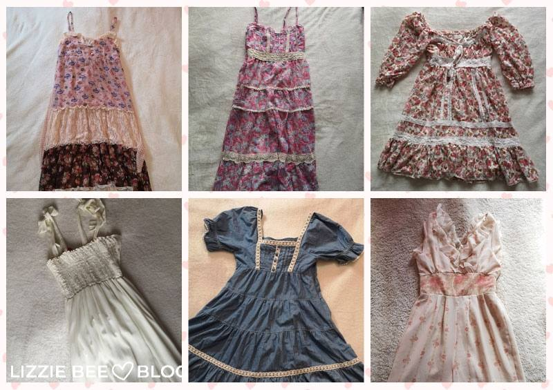 Himekaji wardrobe for spring - dresses