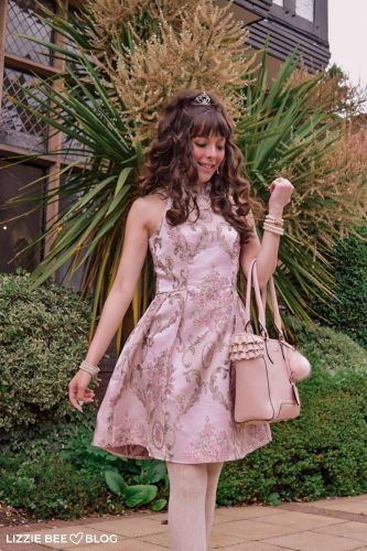 Sleeveless Jacquard Dress from Chi Chi London