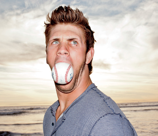Washington Nationals 19-year old outfielder Bryce Harper, when asked if he would celebrate his home run vs. Toronto by taking advantage of Canada's younger drinking age and having a beer. It's well known that he is Mormon.