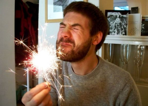 This loser only likes sparklers on the 4th of July.