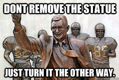 The Joe Pa statue makes Penn State look like a loser in our tweets of the week.