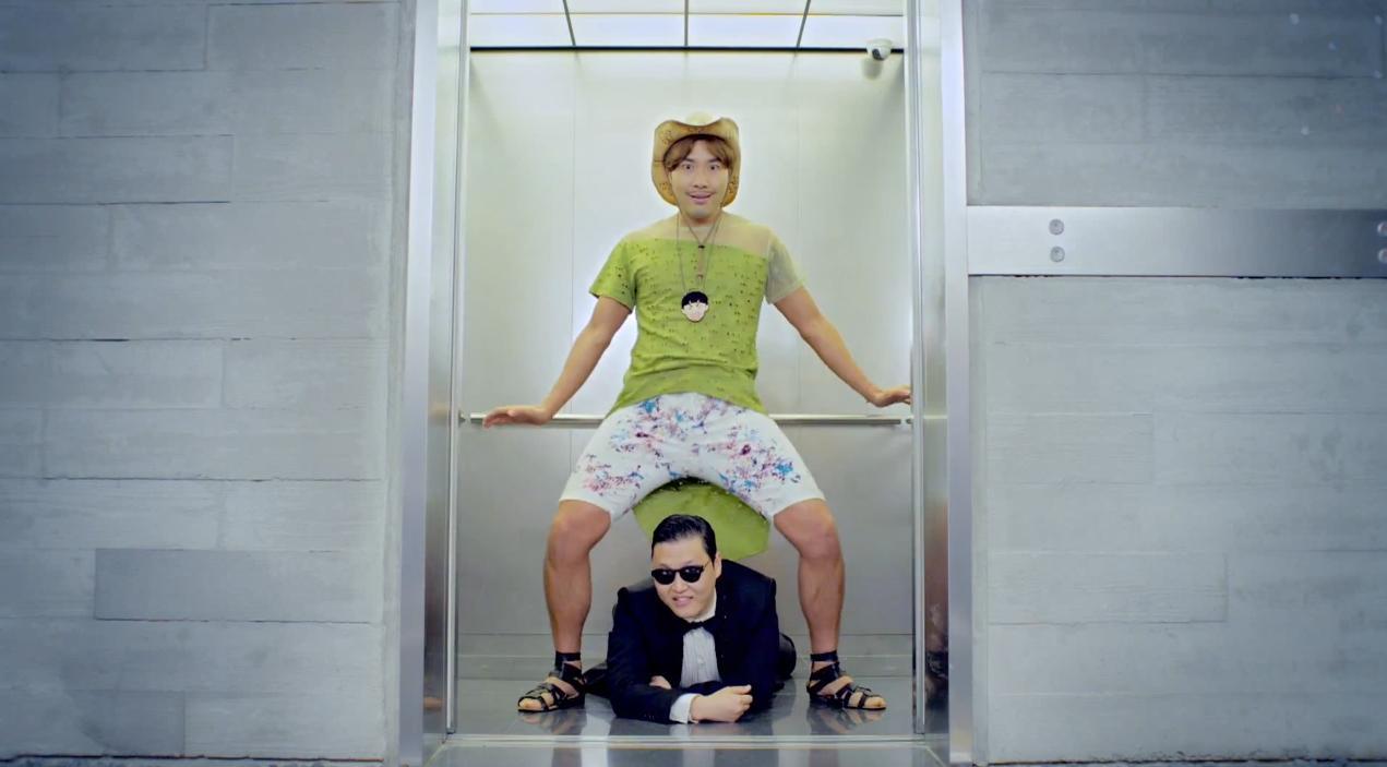 Gangnam Style Part 2: The Elevator Guy