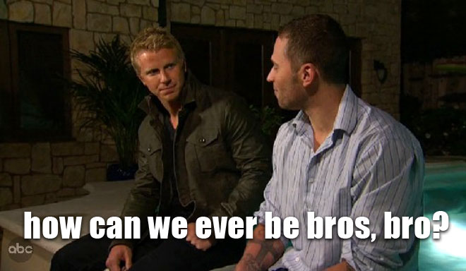 Desiree's brother Nate confronts the Bachelor Sean Lowe about his sister.