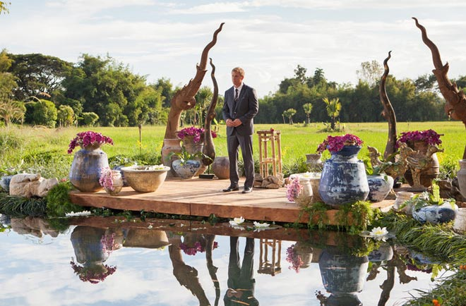 Sean Lowe gives away the final rose on ABC's The Bachelor in Thailand.