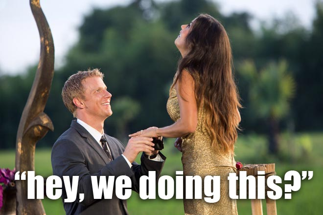 Sean Lowe proposes to Catherine on the Bachelor.