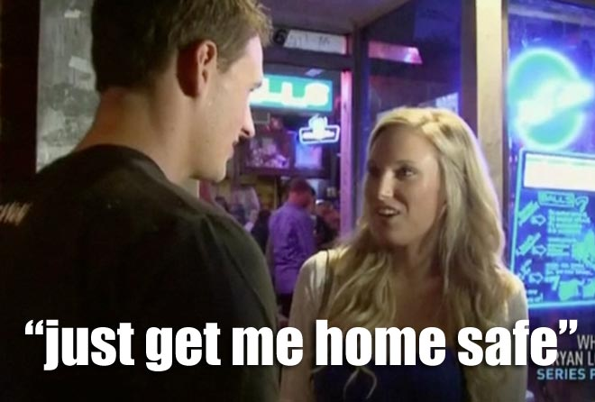 Ryan Lochte goes on a date with a girl named Megan on WWRLD.