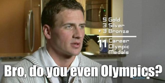 Ryan Lochte can't remember how many Olympic medals he has on WWRLD.