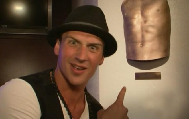 Ryan Lochte does not like the sculpture of his body at 101 Downtown.