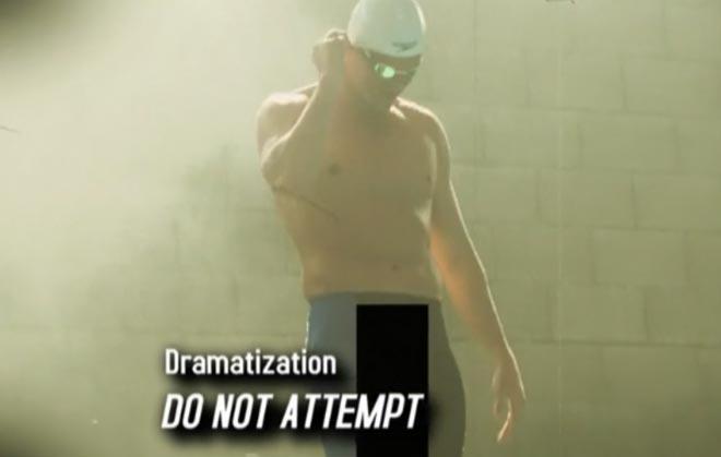 Dramatization. do not attempt when Ryan Lochte pee pants swimming on WWRLD.