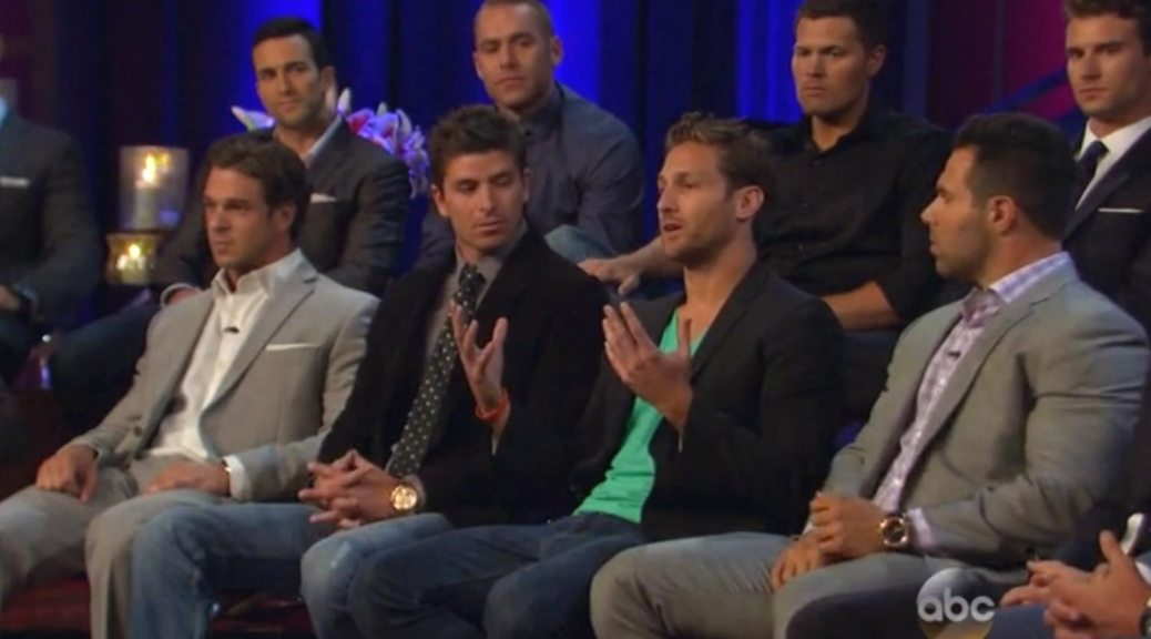 Bachelorette Men tell all episode with Desiree.