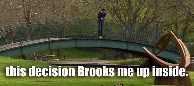 Brooks thinks about his relationship with Desiree in Boise.