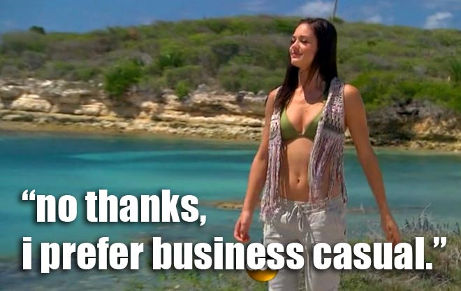 Desiree wears a green bikini top for her date with Chris in Antigua on the Bachelorette.
